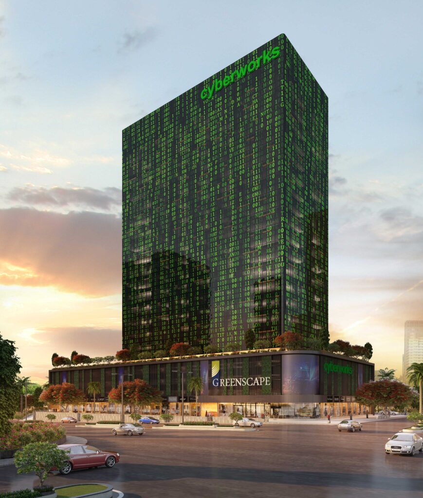 Cyber works Greenscape Group, Cyber Works in Mahape, luxurious office spaces of Navi Mumbai best place to invest in navi mumbai real estate investment in navi mumbai best property investment in navi mumbai business parks in navi mumbai